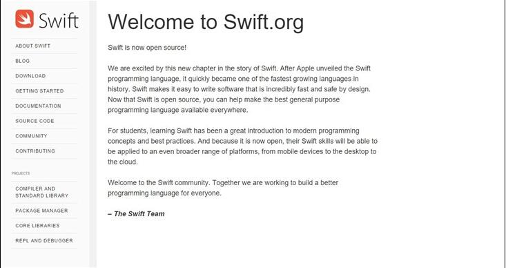App开发者必看:苹果全新app编程语言Swift实现开源