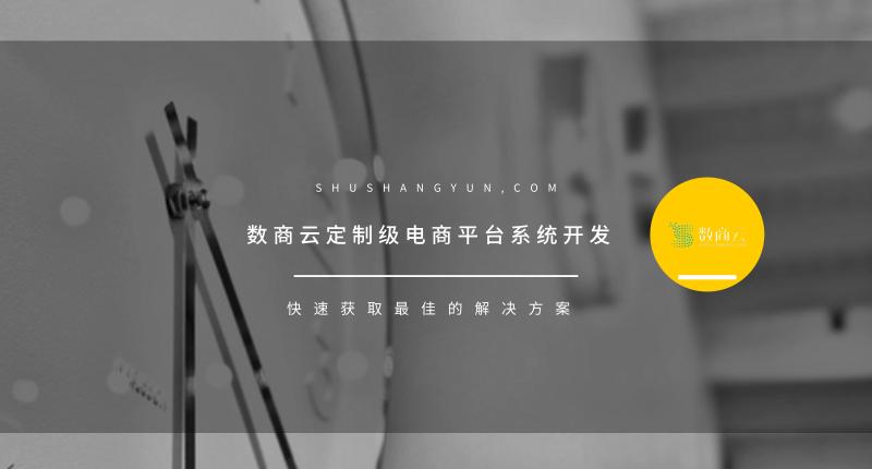 數商雲定制級電商平台系統開發