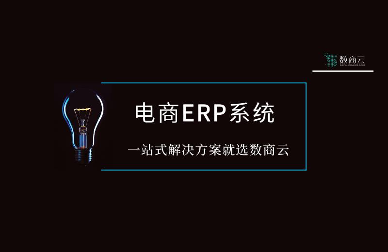 电商ERP系统丨一站式解决方案就选数商云