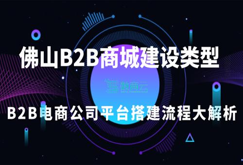 佛山B2B商城網站建設類型選擇,B2B電商公司平臺搭建流程大解析