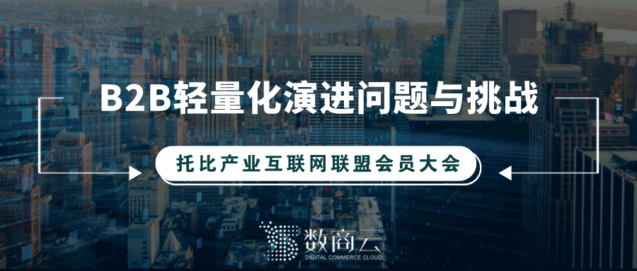 數商云:傳統企業B2B輕量化演進問題與挑戰