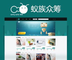 蟻族眾籌網站開發案例